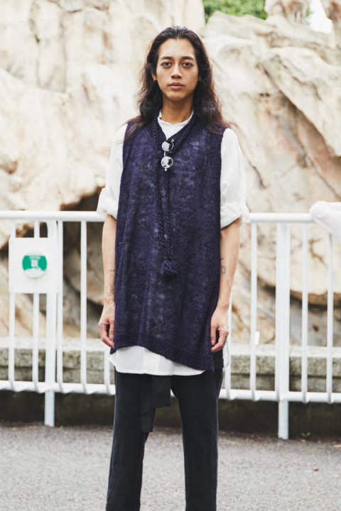 KNIT VEST(PURPLE)