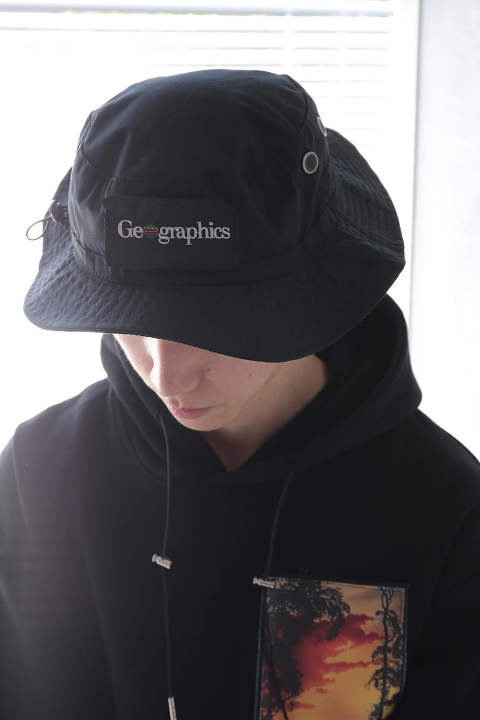 【ラスト1点】GEO BUCKET HAT(BLACK)