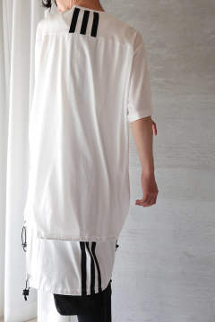 U DRAWSTRING LONG SS TEE(CORE WHITE)