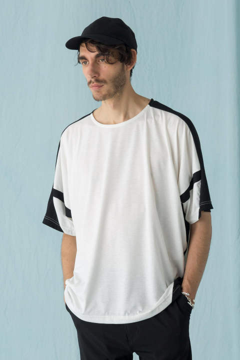 【ラスト1点】T/R TRACK CUT&SEWN(WHITE×BLACK)
