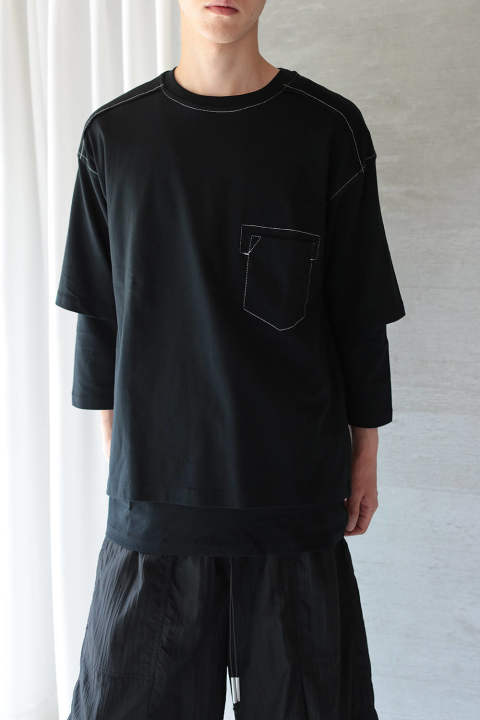 【ラスト1点】LAYERED CUTSEW(BLACK)