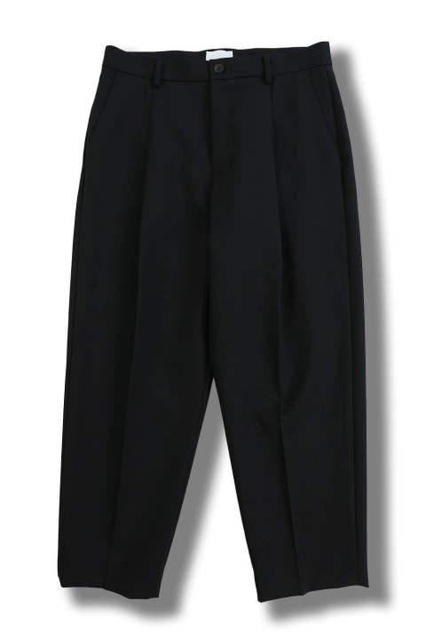 WOOL CROPPED PANTS(BLACK)