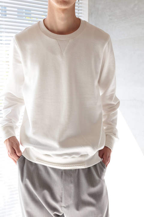 CREW SWEAT(WHITE)