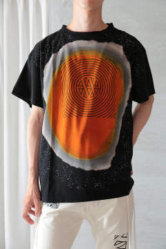VISION T-SHIRT TRANCE DARWIN TREATMENT(BLACK/ORANGE)