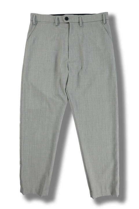 WIDE TAPERED PANTS(GRAY)