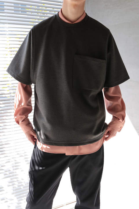 BIG POCKET T-SHIRT(DARK GRAY)