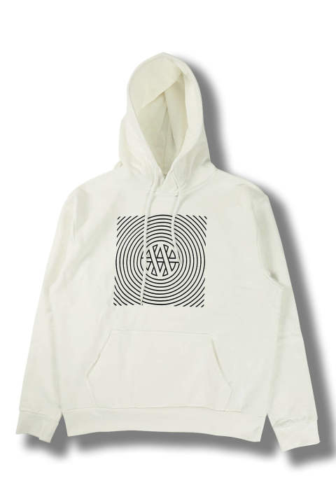 HOODIE DISTRESSED TRANCE VA PRINT(OFF WHITE/BLACK)