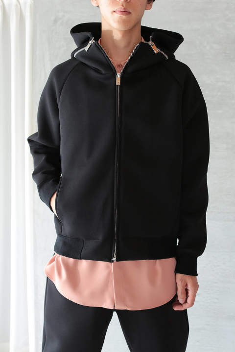 ZIP UP BLOUSON(BLACK)
