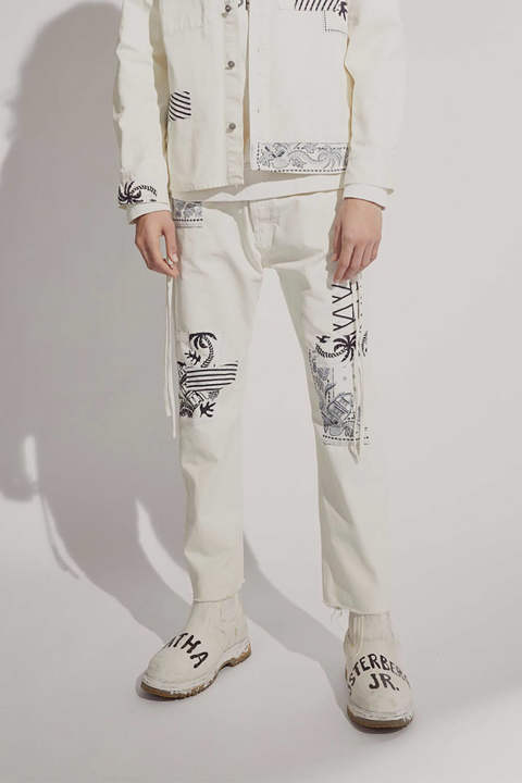 KARATE PANT BANDANA PATCHES(OFF WHITE)