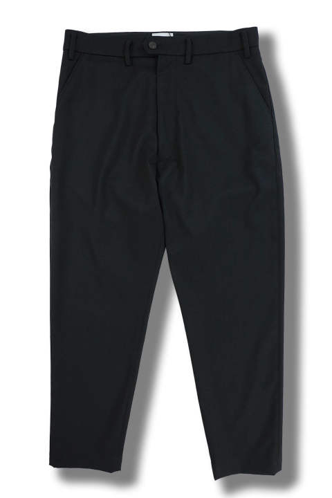 WIDE TAPERED PANTS(BLACK)