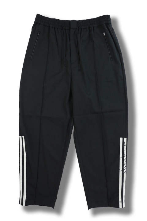 M 3 STP WOOL SATEEN WIDE PANTS(BLACK/ECRU/BLACK)