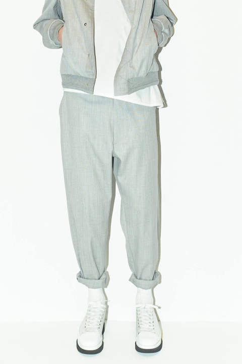 【ラスト1点】WIDE TAPERED PANTS(GRAY)