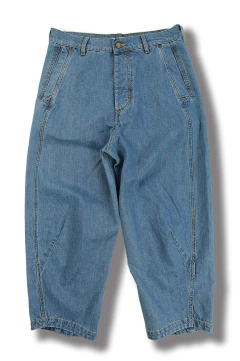 PEANUTS DENIM PANTS(LIGHT WASHED DENIM)