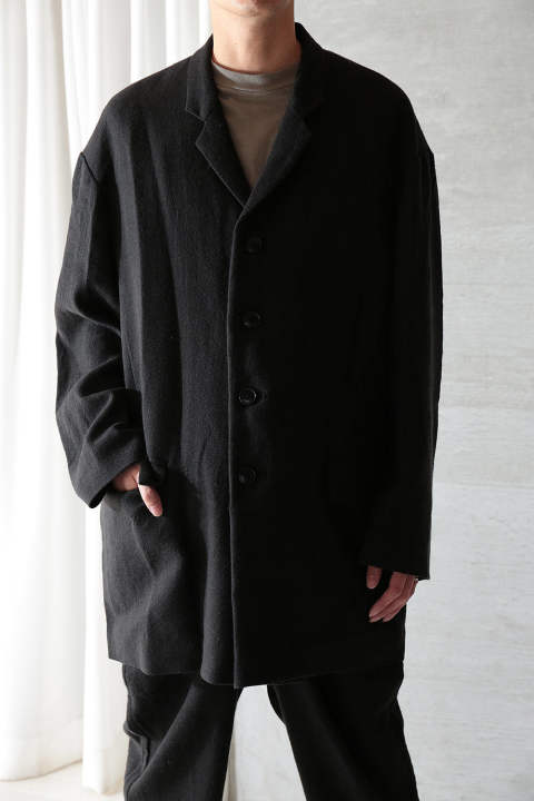 ANCIENT FOLK RAMIE LINE WOOL JACKET(BLACK)