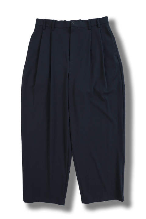 2TUCK  WIDE TROUSER(NAVY)
