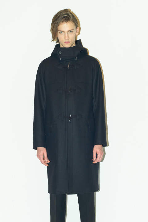 DUFFLE LONG COAT(BLACK)