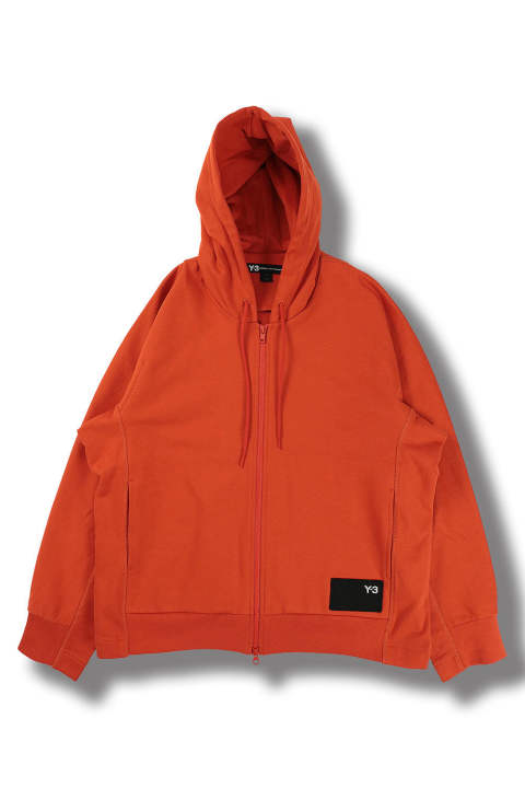 M STACKED BADGE FULL-ZIP HOODIE(ICON ORANGE)