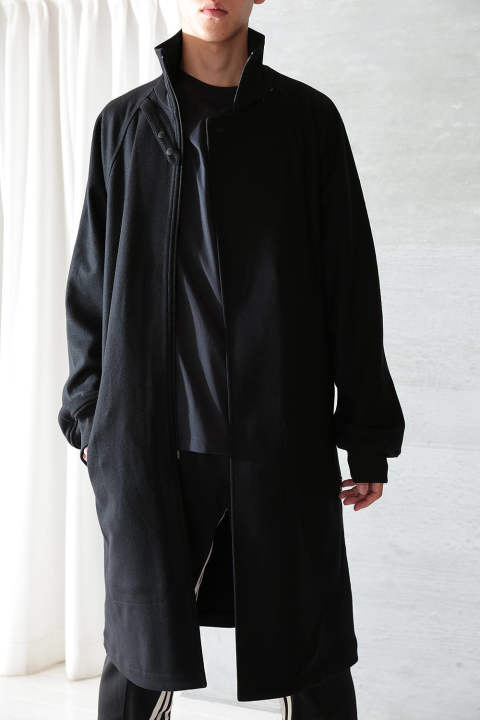 【ラスト1点】M 3STP REVERSIBLE LAYERED TRACK COAT(BLACK/BLACK/ECRU)