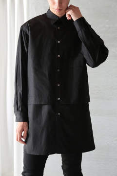 LONG LAYERED SHIRTS(BLACK×BLACK)