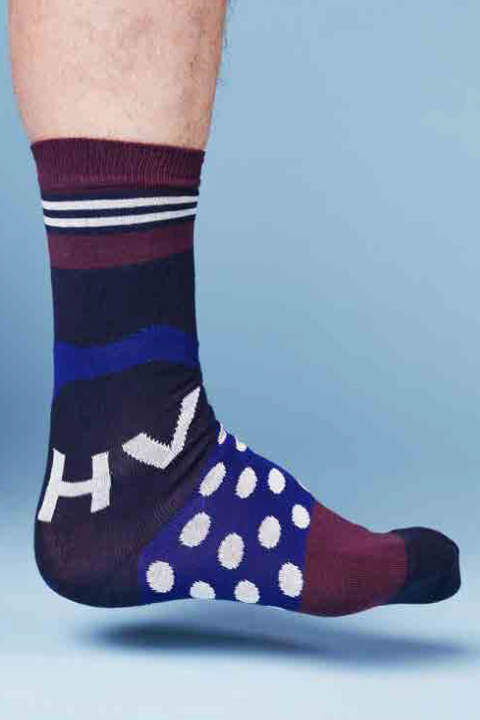 HV SOCKS(DARK DOTS)