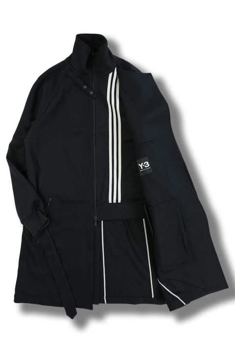 M 3STP REVERSIBLE LAYERED TRACK COAT(BLACK/BLACK/ECRU)