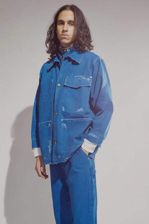 WORKER JACKET DISTRESSED(BLUE)