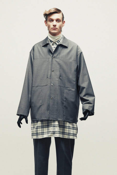 WOOL SHIRTS JACKET(TOP GRAY)