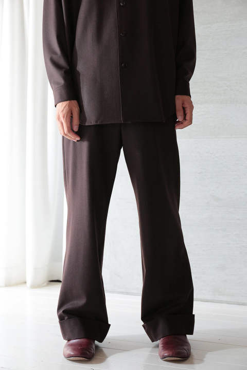 【ラスト1点】dark brown wide pants