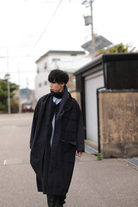 HAOLI MILITARY 2WAY COAT(BLACK)