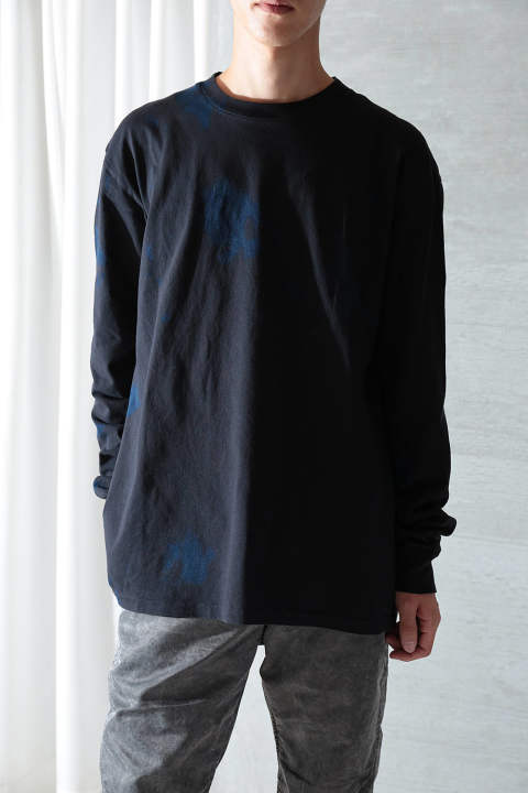 【ラスト1点】DOUBLE DYE LS UNIVERSITY TEE(INDIGO×BLACK)