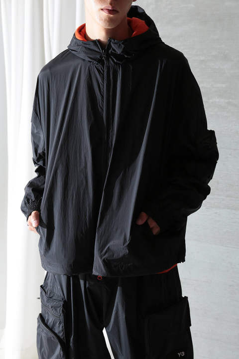 U WOVEN SHELL TRACK JACKET(BLACK)