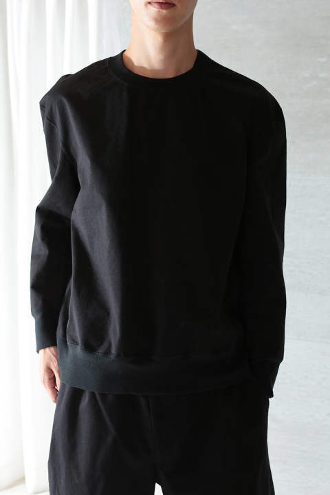 CRISPY SWEAT SHIRTS(BLACK)
