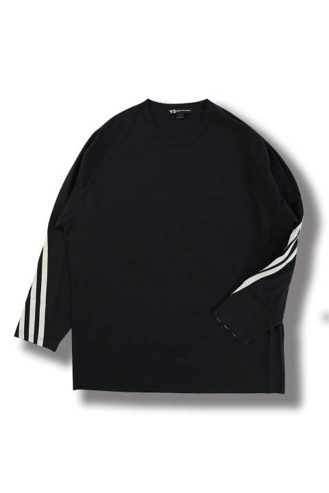 M 3STP PACKABLE LS TEE(BLACK/ECRU)
