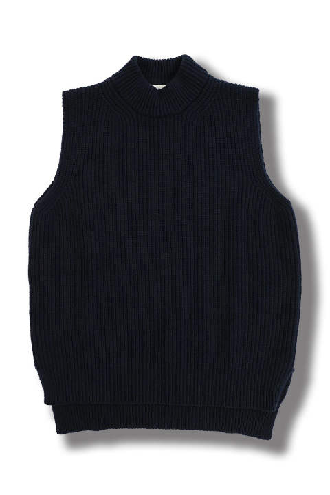 KNIT VEST(BLUE NAVY)