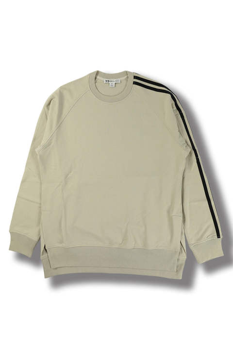 M 3STP FT CREW SWEATER(ECRU/BLACK)