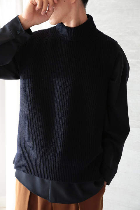 【ラスト1点】KNIT VEST(BLUE NAVY)