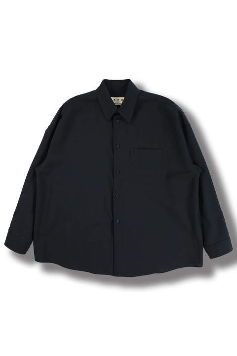 TROPICAL WOOL SHIRTS(BLUE NAVY)
