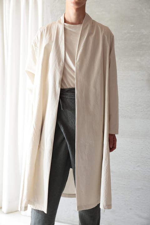 【ラスト1点】ORGANIC COTTON HAORI ROBE(ANCIENT WHITE)