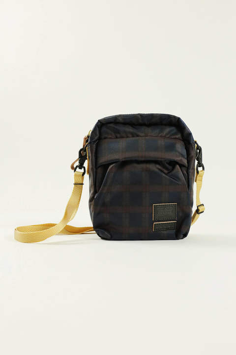 MINI SHOULDER(NAVY/CHECK)