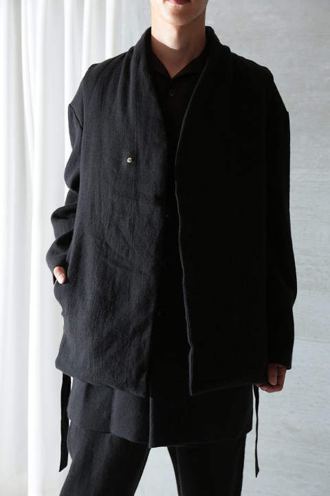BEAUTIFUL FOLK DOWN HAORI VEST(BLACK)
