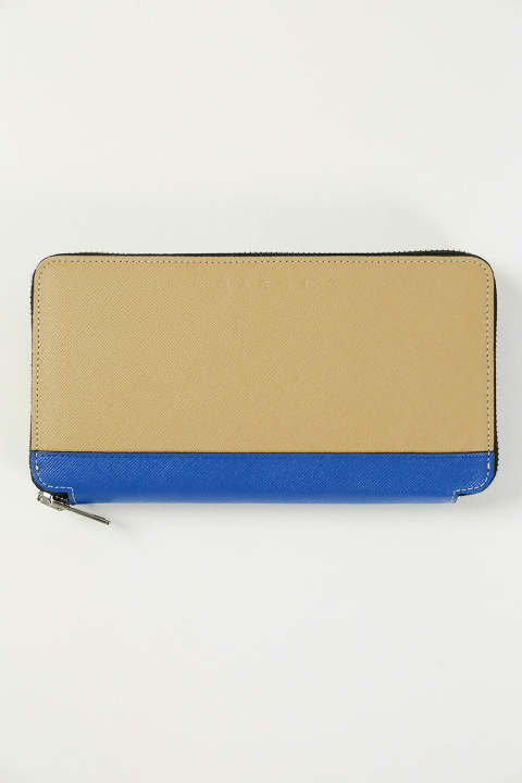 LONG WALLET(SOFT BEIGE/MAZARINE BLUE/ARABESQUE)