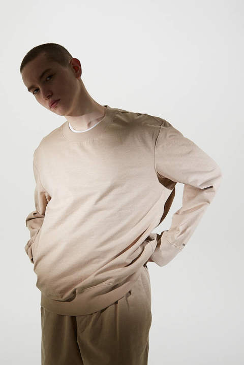 CRISPY SWEAT SHIRTS(BEIGE)