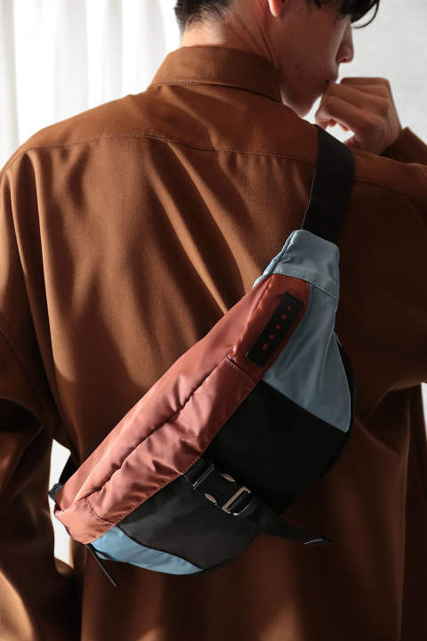 【ラスト1点】NYLON BELT BAG(LAKE/RUST/BLACK)