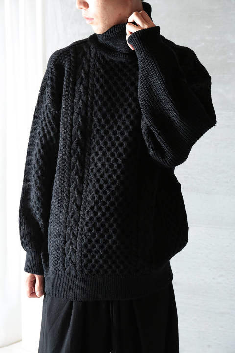 【ラスト1点】2WAY TURTLE BELT KNIT(BLACK)