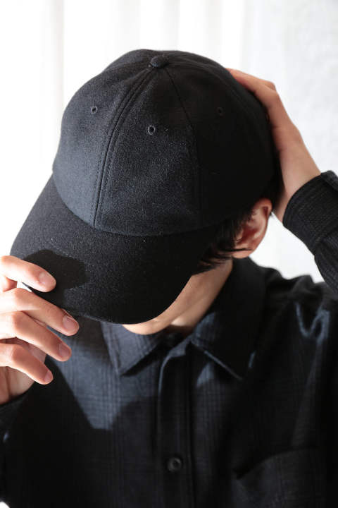 LOWNN WOOL CAP(BLACK)