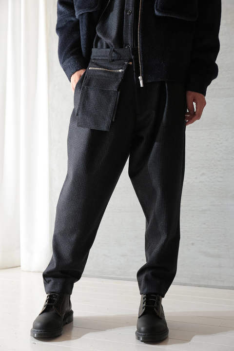 "UTILITY TROUSERS ""RABATS""(NAVY CHECK)"