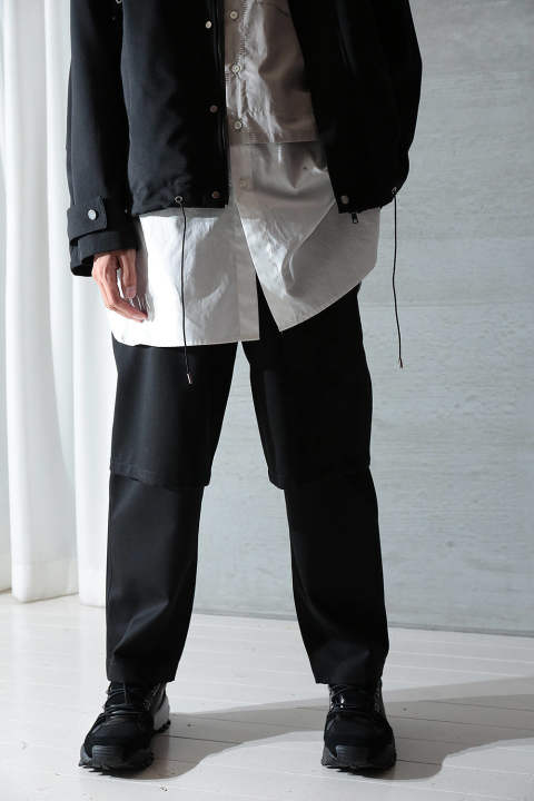 LAYERED TROUSERS(BLACK)