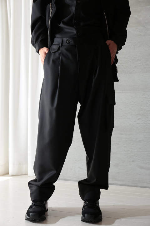 "【ラスト1点】RELAXED TROUSERS ""DROIT""(BLACK)"