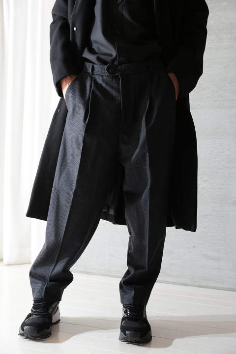 "NEO TROUSERS ""AMPLE""(NAVY CHECK)"