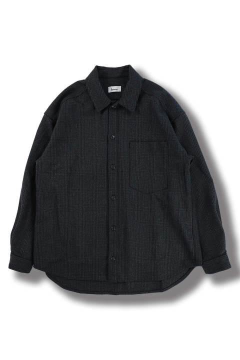 OVERSIZE SHIRTS(NAVY CHECK)